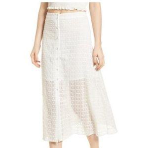 J.O.A. Eyelet Skirt